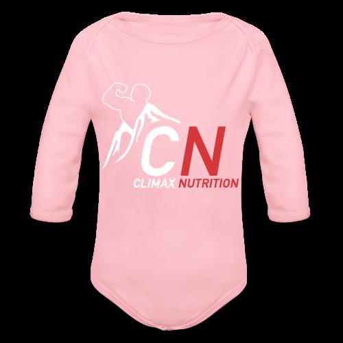 Climax Nutrition Logo - Organic Longsleeve Baby Bodysuit