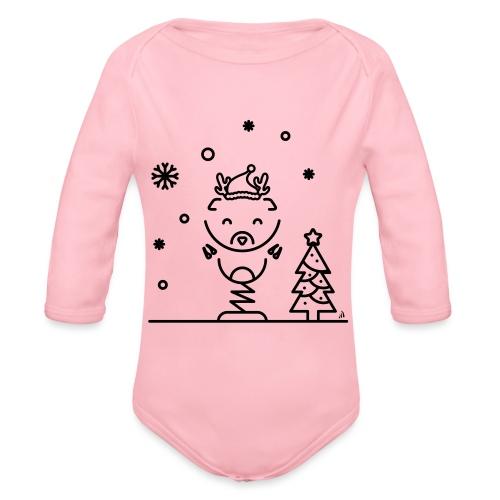 Noël reindeer 1 - Body Bébé bio manches longues