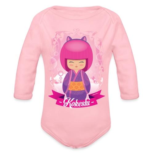 Kokeshi mod.3 - Body ecologico per neonato a manica lunga