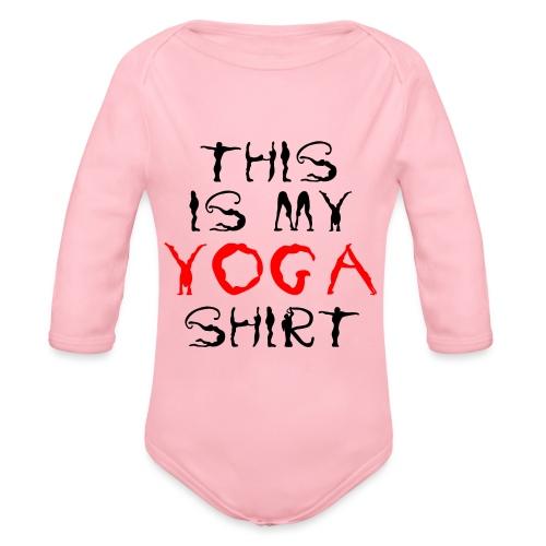 camicia yoga sport namaste spiritualità pace amore - Body ecologico per neonato a manica lunga