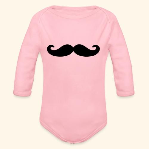 Loco Moustache - Baby bio-rompertje met lange mouwen