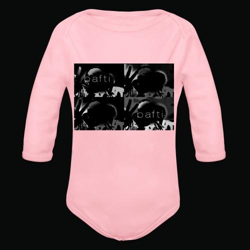 black bafti crew - Langærmet babybody, økologisk bomuld