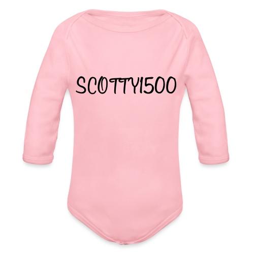 Scotty1500 Hoodie (White) - Organic Longsleeve Baby Bodysuit