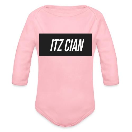ITZ CIAN RECTANGLE - Organic Longsleeve Baby Bodysuit