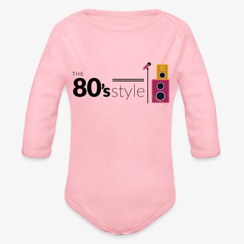 80s - Body orgánico de manga larga para bebé