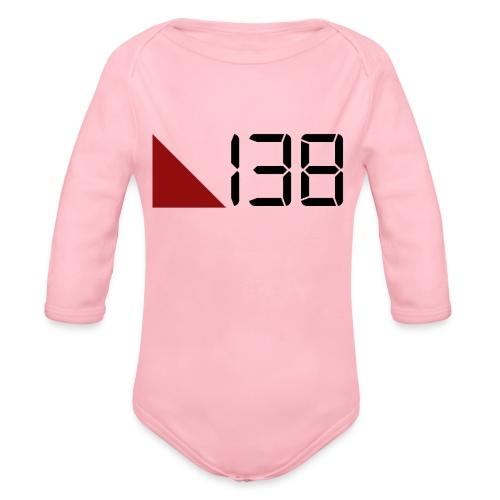 138 (Black) - Ekologisk långärmad babybody