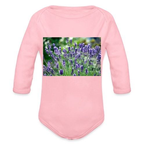 Lavendler - Langærmet babybody, økologisk bomuld