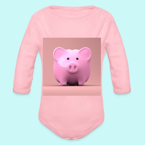 piggy - Organic Longsleeve Baby Bodysuit