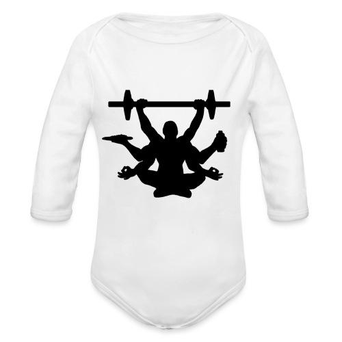 Focus training - Vauvan pitkähihainen luomu-body