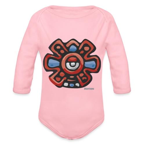Aztec Motion Earth - Organic Longsleeve Baby Bodysuit