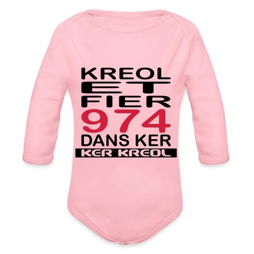 Kreol et Fier - 974 ker kreol - Body Bébé bio manches longues