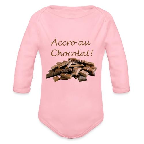Chocolat - Body Bébé bio manches longues