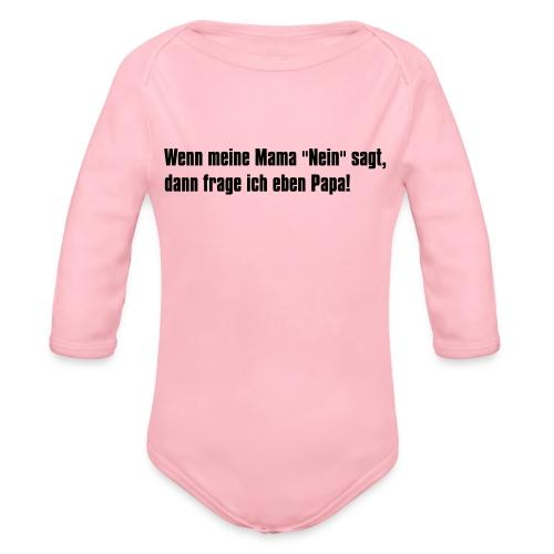 Mama Papa - Baby Bio-Langarm-Body
