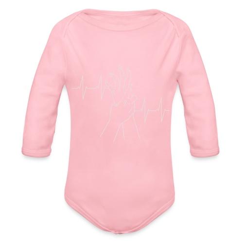 heartbeat - Organic Longsleeve Baby Bodysuit