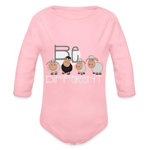 Cool Be Different Sheep Gang - Good Mood Sheep - Organic Longsleeve Baby Bodysuit