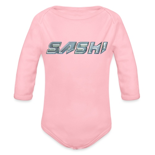 SASH! Logo 2 - Organic Longsleeve Baby Bodysuit