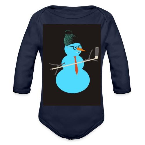 Hockey snowman - Vauvan pitkähihainen luomu-body