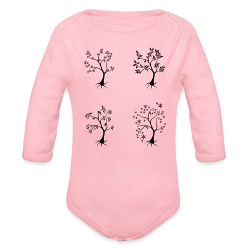 Vuodenajat - Vauvan pitkähihainen luomu-body
