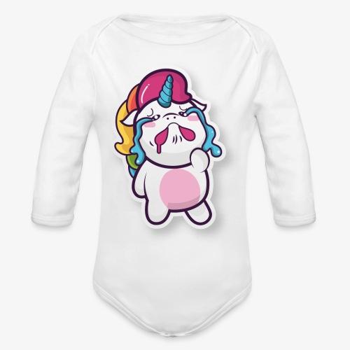 Funny Unicorn - Organic Longsleeve Baby Bodysuit