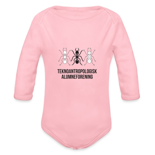 Teknoantropologisk Støtte T-shirt alm - Langærmet babybody, økologisk bomuld