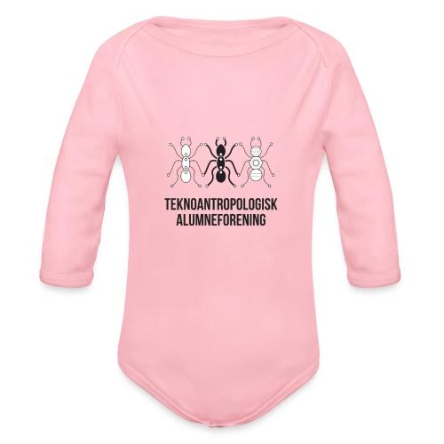 Teknoantropologisk Støtte T-shirt figur syet - Langærmet babybody, økologisk bomuld