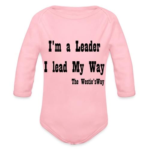 I lead My Way Black - Ekologiczne body niemowlęce z długim rękawem