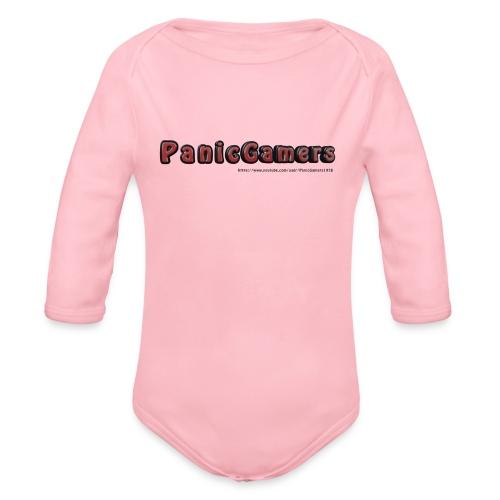 Canotta PanicGamers - Body ecologico per neonato a manica lunga