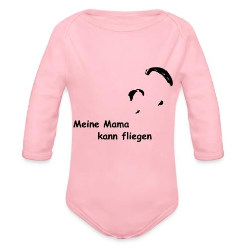 Mama fliegt - Baby Bio-Langarm-Body