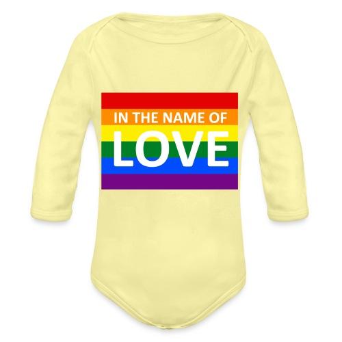 IN THE NAME OF LOVE RETRO T-SHIRT - Langærmet babybody, økologisk bomuld