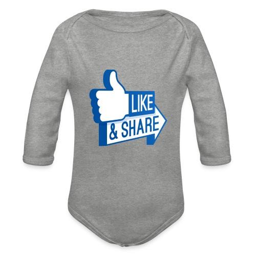 Like & Share (Facebook) - Body ecologico per neonato a manica lunga