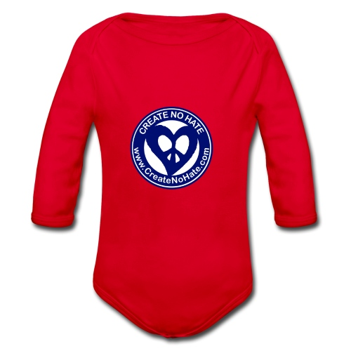 THIS IS THE BLUE CNH LOGO - Organic Longsleeve Baby Bodysuit