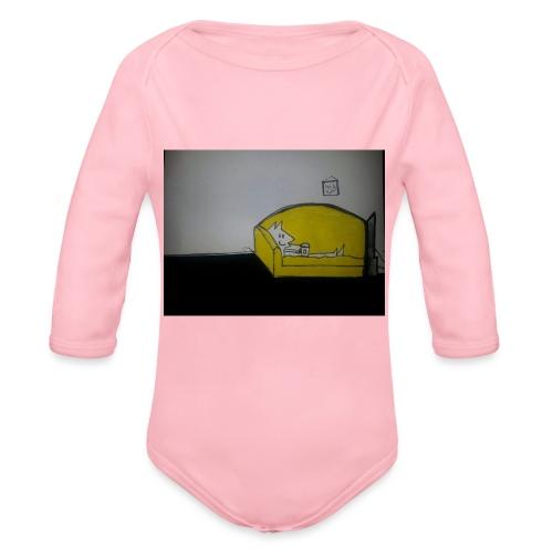 armadillo in poltrona - Body ecologico per neonato a manica lunga