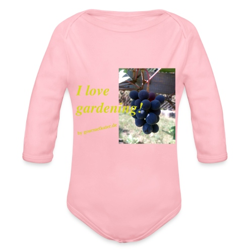 Weintraube - I love gardening - Baby Bio-Langarm-Body
