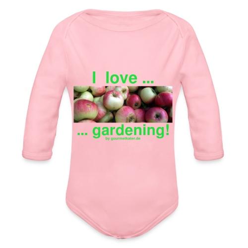 Äpfel - I love gardening! - Baby Bio-Langarm-Body