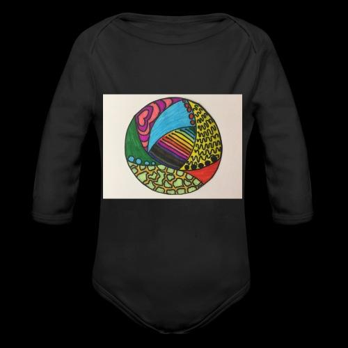 circle corlor - Langærmet babybody, økologisk bomuld