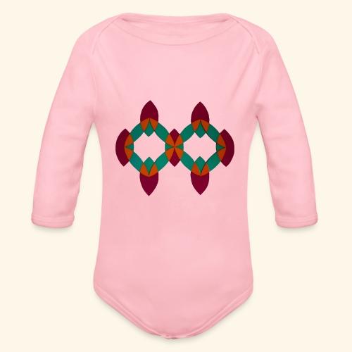 roseoranjegroen - Baby bio-rompertje met lange mouwen