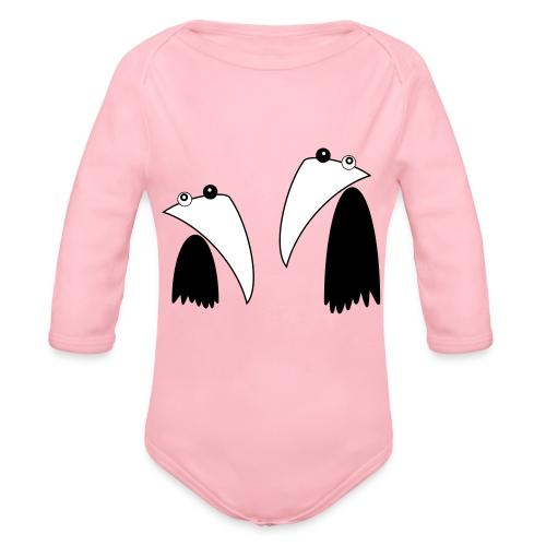 Raving Ravens - black and white 1 - Baby Bio-Langarm-Body