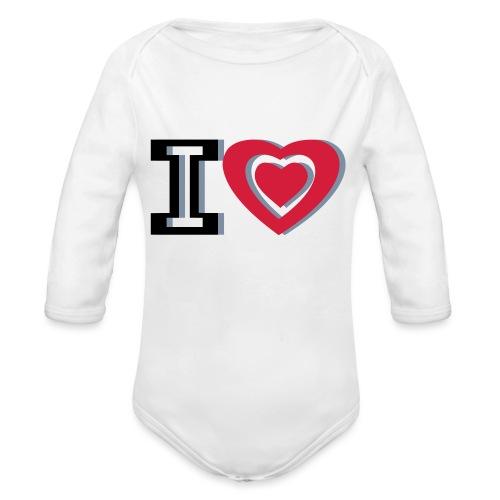 I LOVE I HEART - Organic Longsleeve Baby Bodysuit