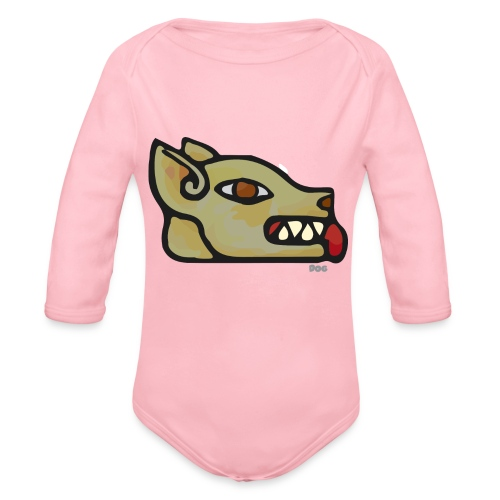 Aztec Icon Dog - Organic Longsleeve Baby Bodysuit