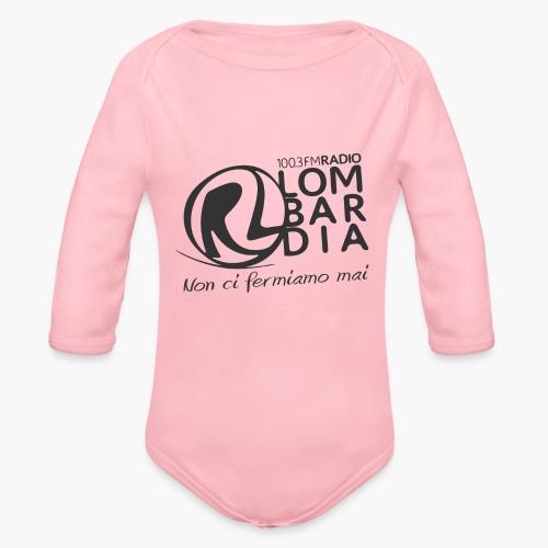 Uomo - Maglietta - Logo Nero - Body ecologico per neonato a manica lunga