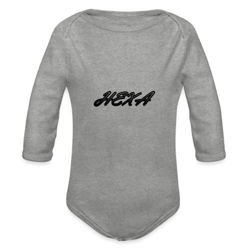 HexaDesignBlackLogo - Organic Longsleeve Baby Bodysuit