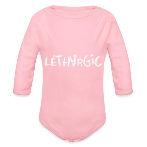 lethargic blanc - Body bébé bio manches longues