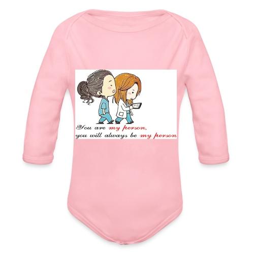 you are my person - Body ecologico per neonato a manica lunga