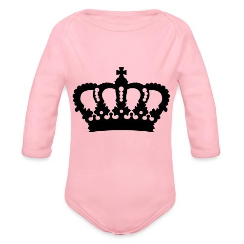 Krone König Königin Prinz Prinzessin Royal - Baby Bio-Langarm-Body