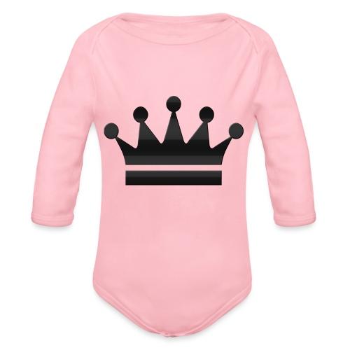 crown - Baby bio-rompertje met lange mouwen