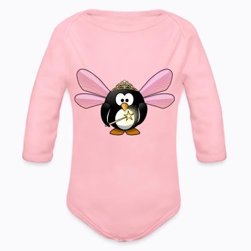 fairy tux - Organic Longsleeve Baby Bodysuit