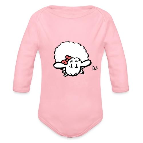 Baby Lamb (różowy) - Ekologiczne body niemowlęce z długim rękawem