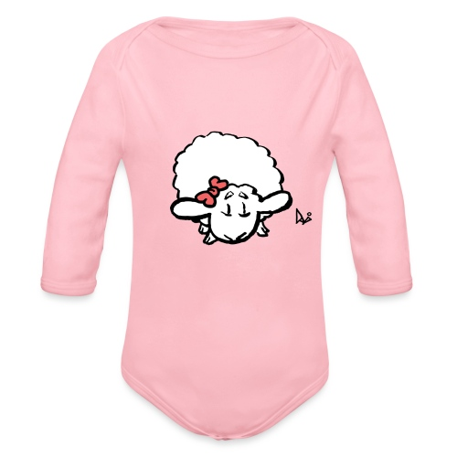Vauvan karitsa (vaaleanpunainen) - Vauvan pitkähihainen luomu-body