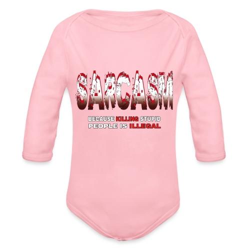 SARCASM - Organic Longsleeve Baby Bodysuit