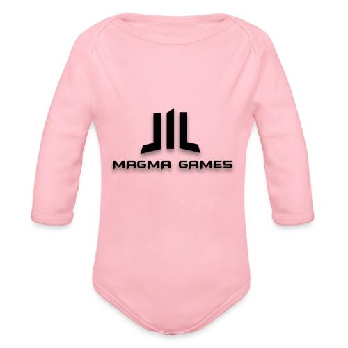 Magma Games sweater grijs met zwart logo - Baby bio-rompertje met lange mouwen